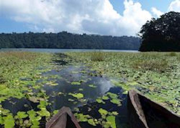 Canoe on Lake Tamblingan, Munduk