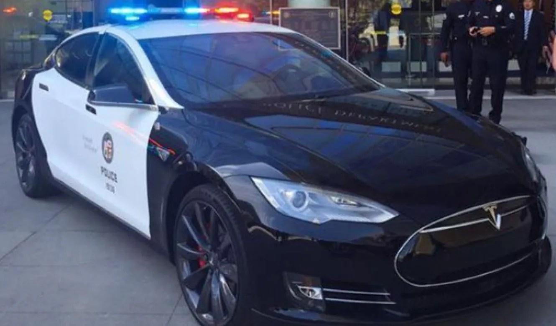 Tesla Model S Coche De Polica De Los Ngeles Autobildes