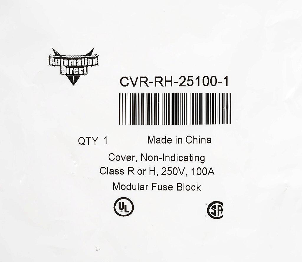 Modular Fuse Block Cover For 250v 100a Class R Pn Cvr