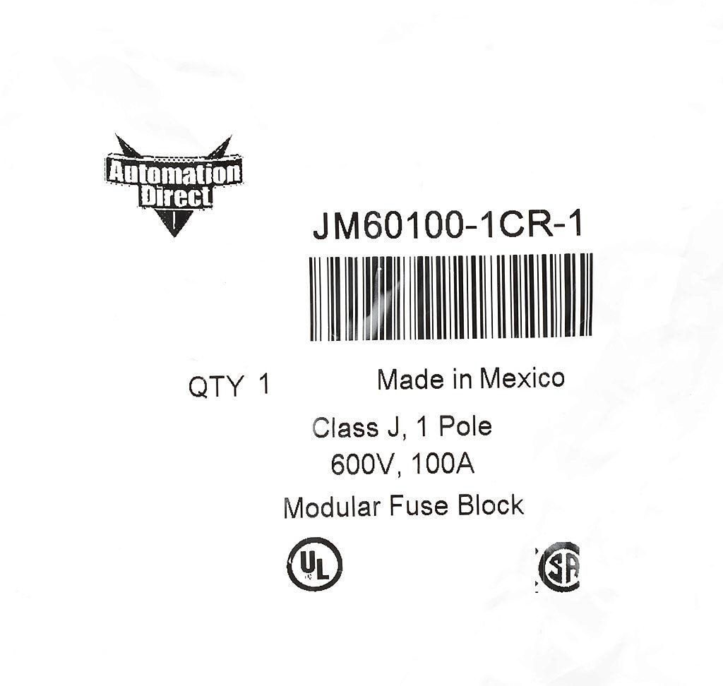 Modular Fuse Block 100a 1 Pole Pn Jm 1cr 1