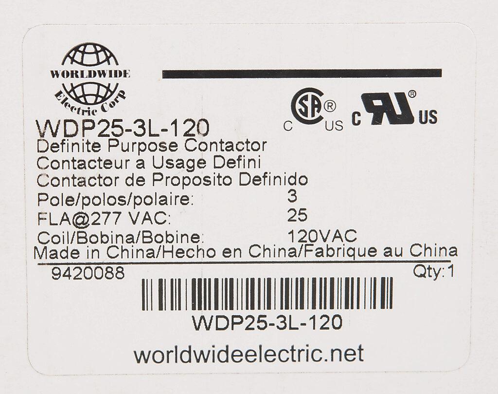 Definite Purpose Contactor 25a 120 Vac 50 60 Hz Coil