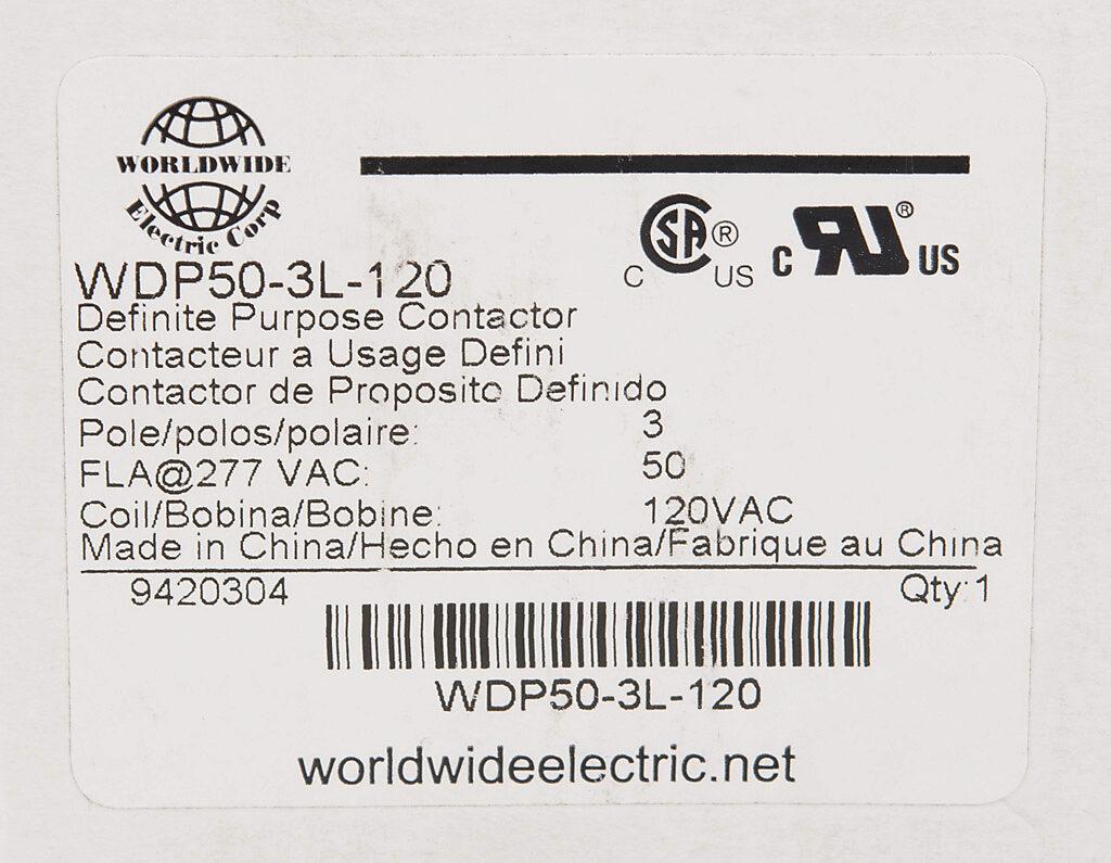 Definite Purpose Contactor 50a 120 Vac 50 60 Hz Coil