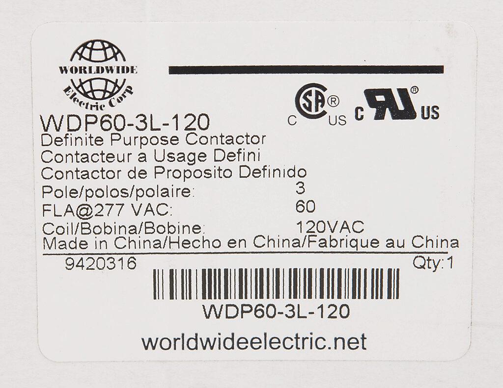 Definite Purpose Contactor 60a 120 Vac 50 60 Hz Coil