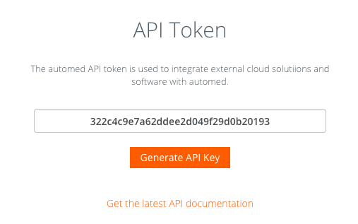 automed API Key