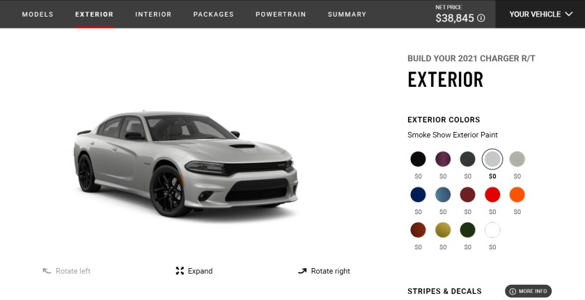 dodge charger rt configurator equal to gugu's daughter