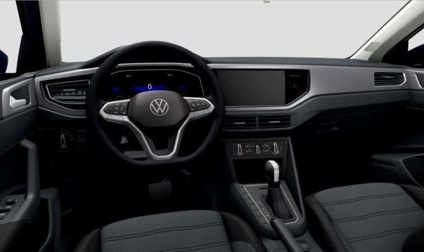 vw nivus comfortline 2022 interior without multimedia center