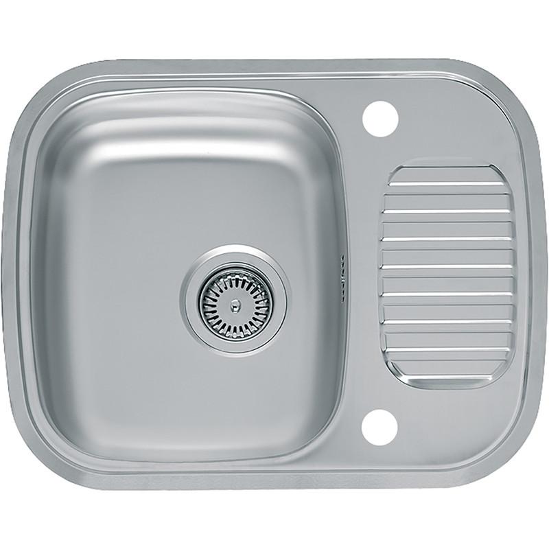 reginox reversible stainless steel compact kitchen sink drainer single bowl