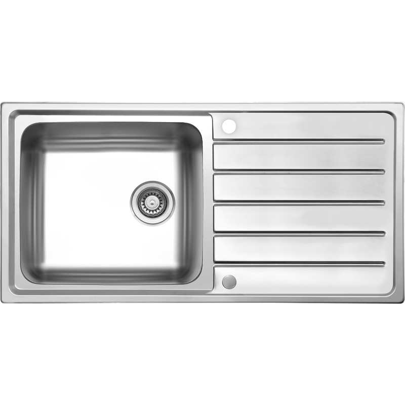 reversible stainless steel kitchen sink drainer single bowl