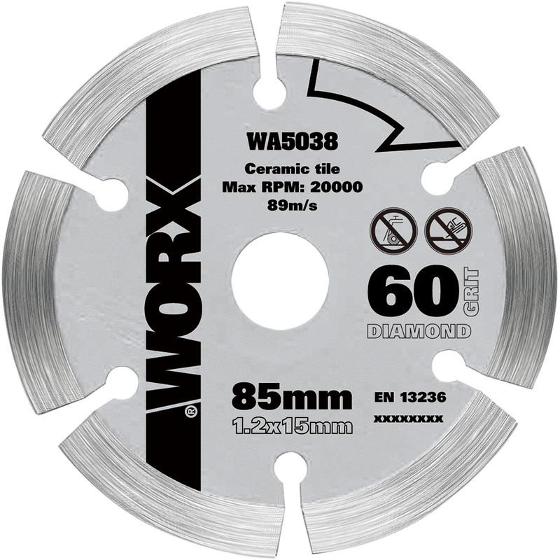 worx diamond circular saw blade 85 x 15mm
