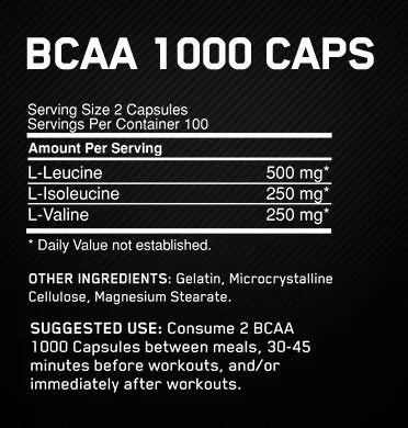 BCAA Optimum Nutrition – 200 Cápsulas