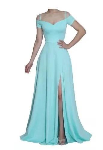 vestidos de festa azul serenity barato online