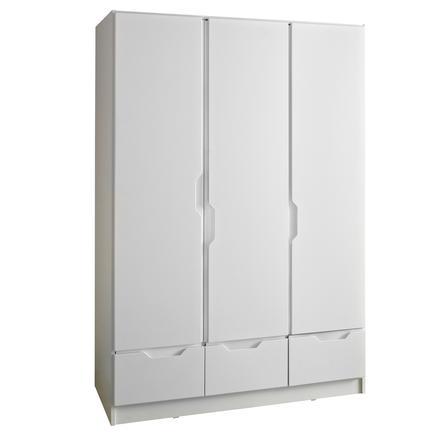 armoire enfant bebe fresh 3 portes blanc