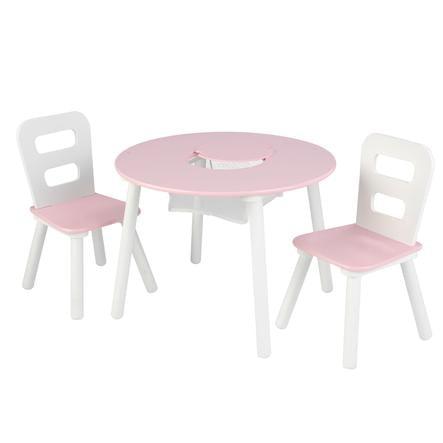 kidkraft ensemble table 2 chaises enfant blanc rose