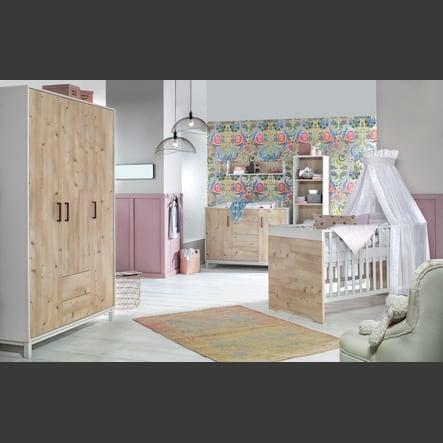 chambre enfant timber pin armoire 3 portes