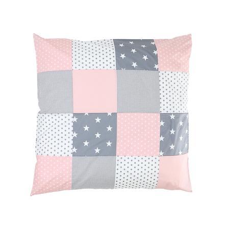 taie d oreiller enfant patchwork rose gris