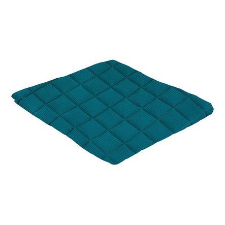 tapis d eveil gaufre bleu petrole