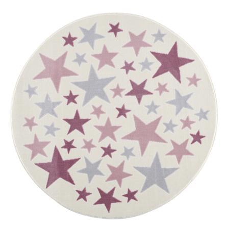 tapis enfant happy rugs stella creme gris