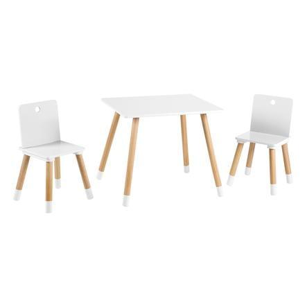 ensemble table et chaise enfant bois blan