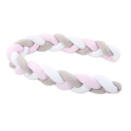 tour de lit traversin enfant tresse blanc