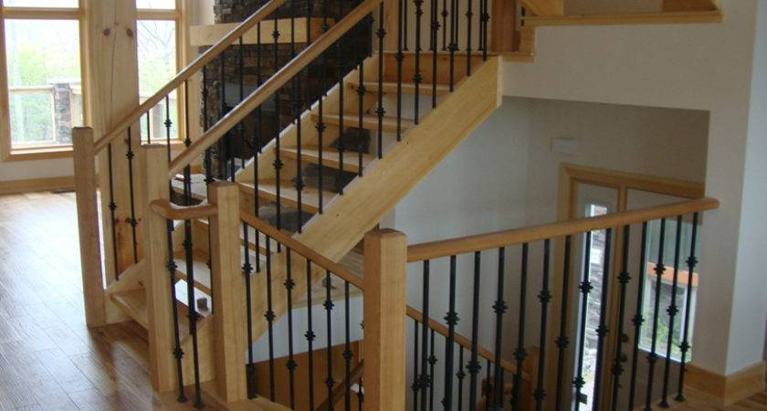 Simple Railings Stairs Inside House Placement Barb Homes | House Stair Railing Design | Ancient | Exterior | Simple | Scandinavian | Ss Banister
