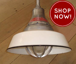 vintage rlm warehouse lights from