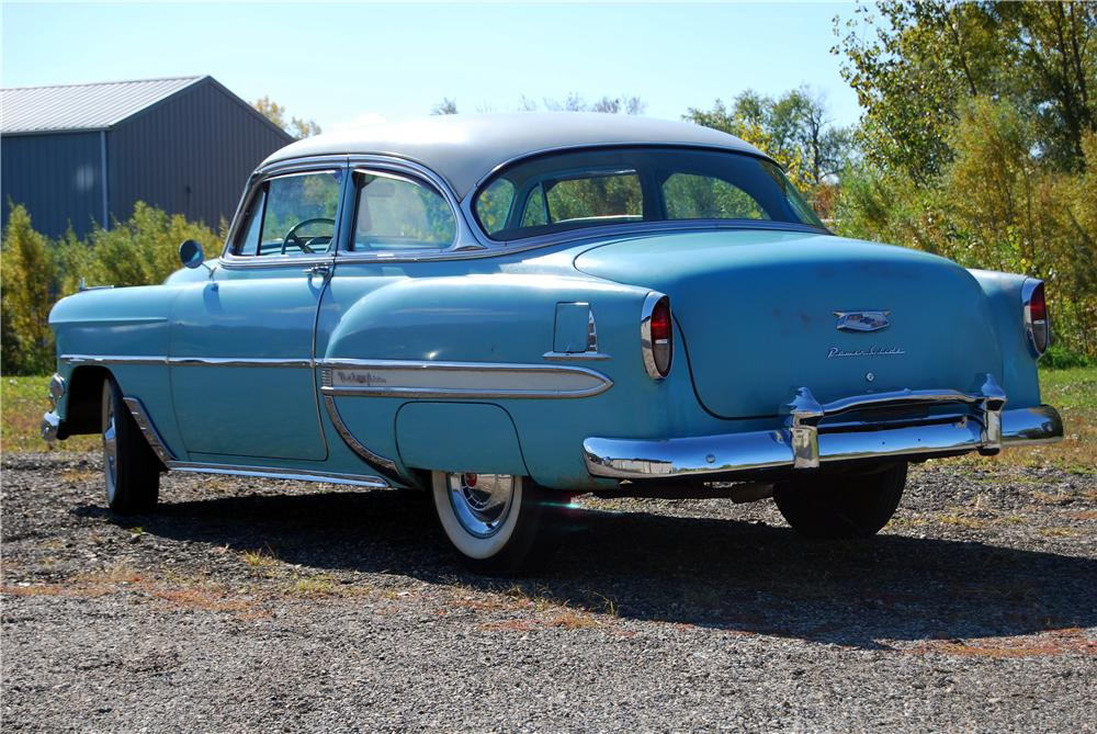 Lot  54 1954 CHEVROLET BEL AIR 2 DOOR SEDAN     1954 CHEVROLET BEL AIR 2 DOOR SEDAN   Rear 3 4   157790