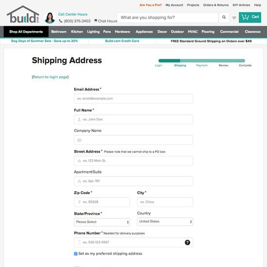 build com e commerce ux case study