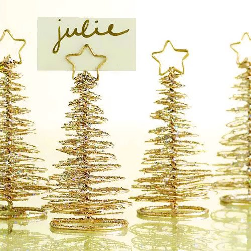 Gold Tree Place Card Holders Holiday Table Decorations