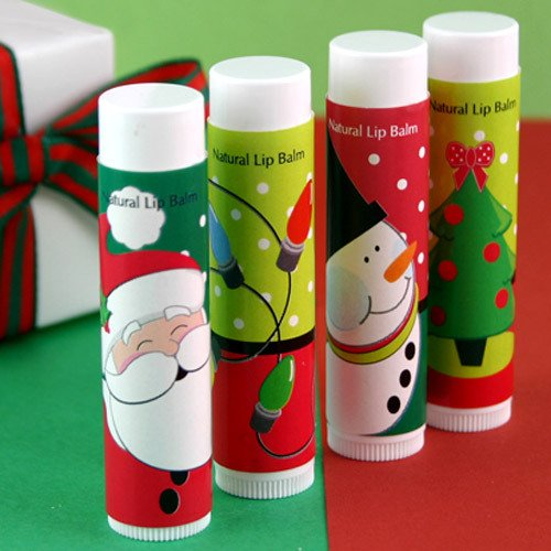 Personalized Holiday Lip Balm Favors Chapstick Favors