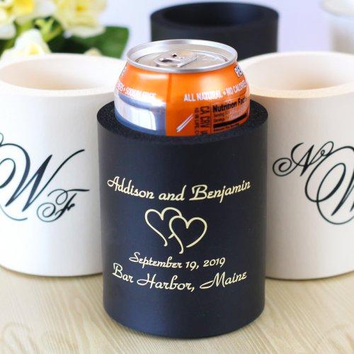 beer can cozy wedding favors