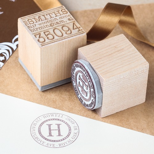 Personalized Wood Cube Stamp