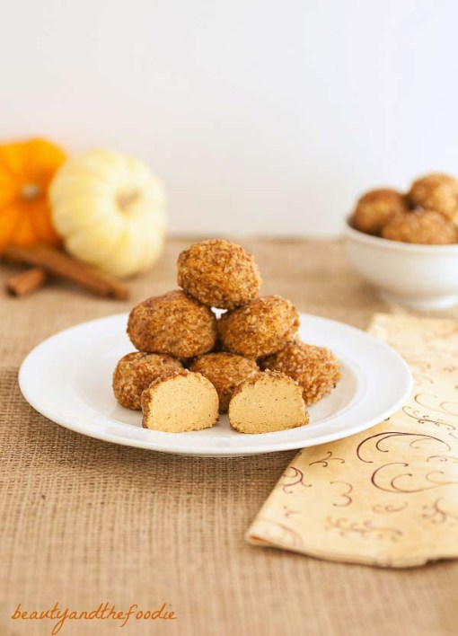 No Bake Gluten-Free Pumpkin Cheesecake Bites