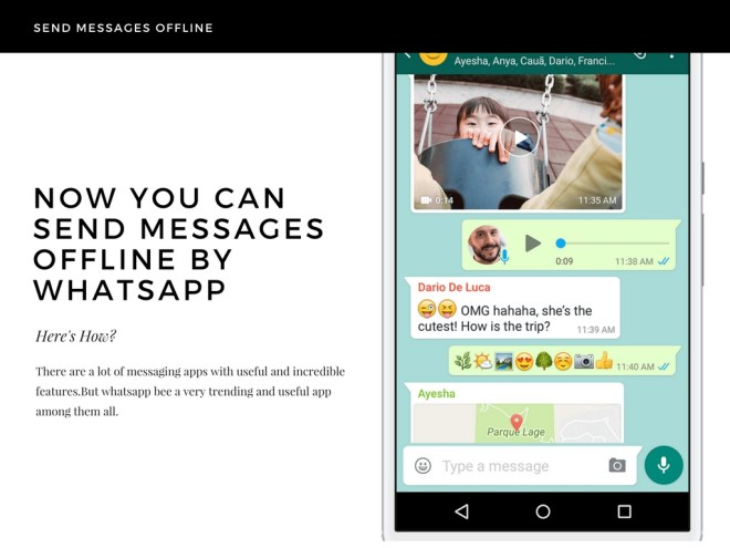 NOW YOU CAN SEND MESSAGES OFFLINE BY WHATSAPP