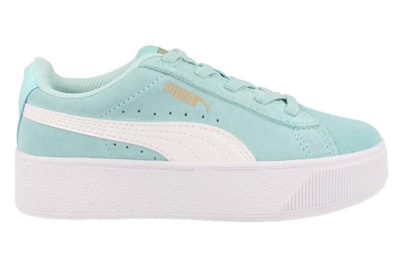 Puma Sneaker Laag Vikky Platform Ac Ps Meisjes - Lichtblauw