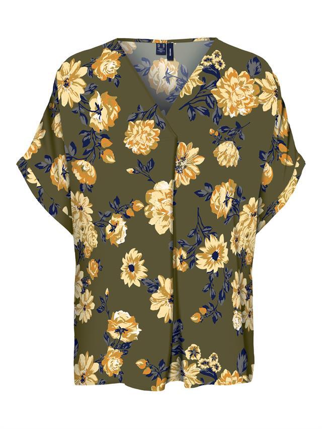Vero Moda Shirt Vallot Top Flowers - Bloemen Motief