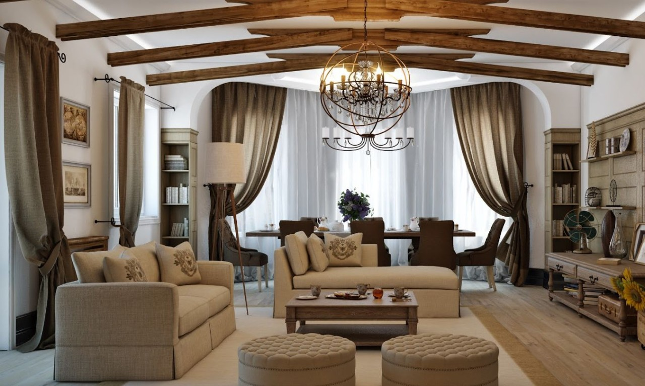 Country-Style Interior on Apartment Decorating Styles  id=25384