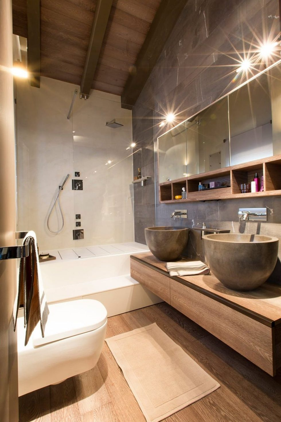 Modern Apartment in Switzerland: Fresh Ideas and Curious ... on Bathroom Ideas Apartment  id=43617