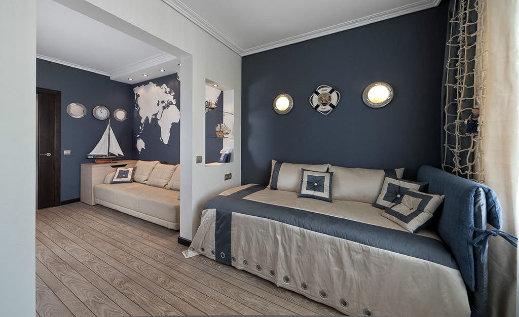 Deep Blue And White Bedroom Decorating Ideas