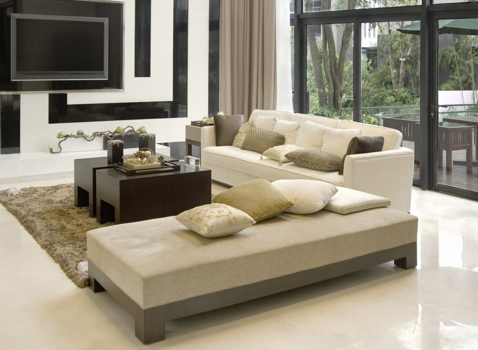 White Grey And Beige Living Room Interior. Beige Color In The Interior And  Its Combinations With Other Colors Part 55