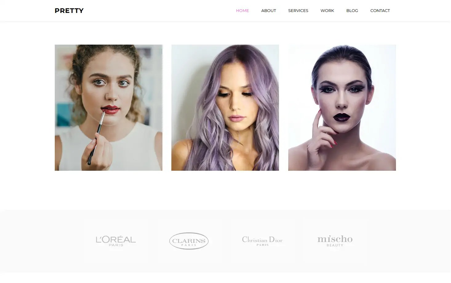 It has an excellent design accessible using any device, be it a smartphone, tablet, laptop, or desktop, thanks to … Pretty A Free Beauty Salon Website Template Best Free Html Css Templates