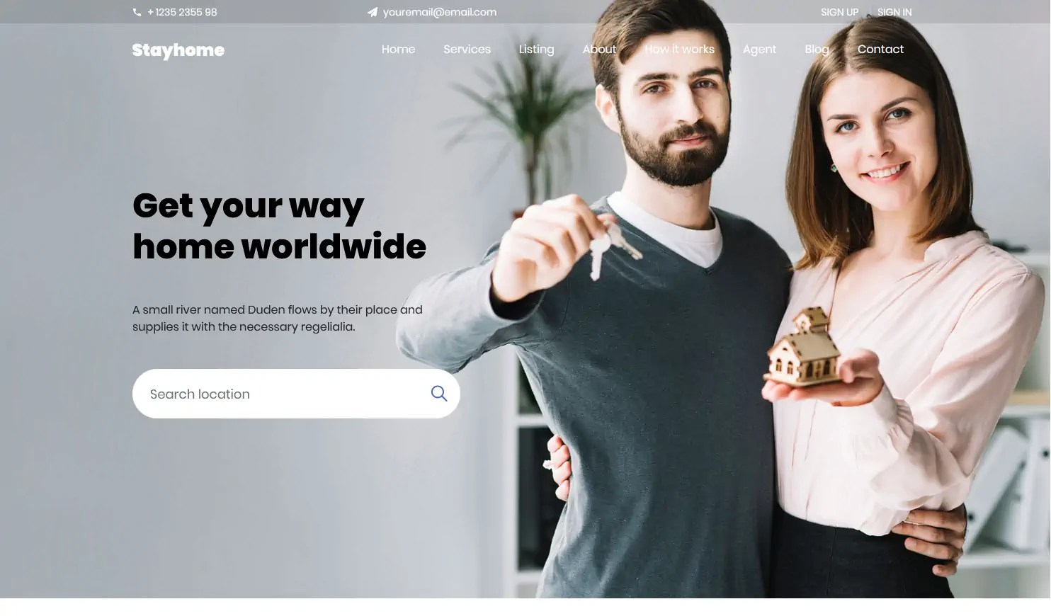 Efficacy is the second name of the given real estate agent html template. Stayhome A Free Real Estate Agency Website Template Best Free Html Css Templates