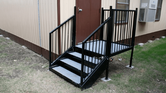 Modular Stairs Landing Bestofhouse Net 4928 | Wooden Stairs For Mobile Home | Pre Built | Prefabricated | Simple | Wood Camper | Patio