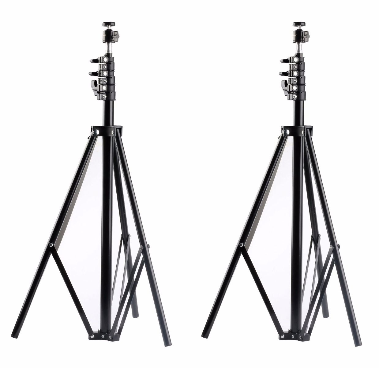 New Version 2 Packs 102 Inches 260centimeters Adjustable Light Stands With 1 4 Tripod Mini Ball