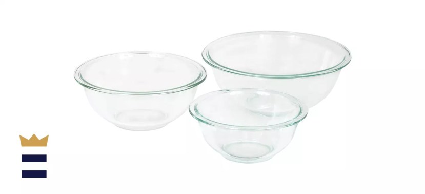 Pyrex Glass Mixing Bowl Set (3-Piece Set