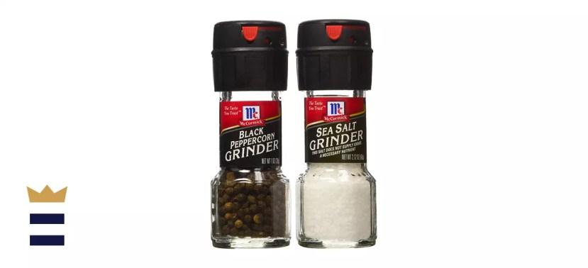 McCormick Sea Salt Grinder 2.12 Oz. & Black Peppercorn Grinder 1.0 Oz
