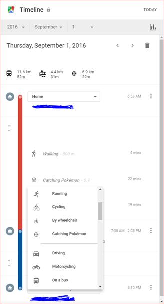 google timeline view