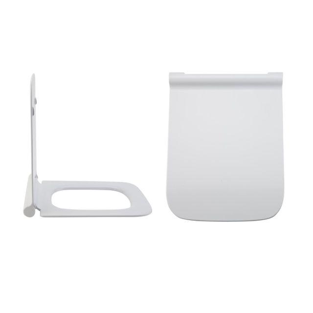 Milano Elswick - White Soft Close Quick Release Top Fix Toilet Seat