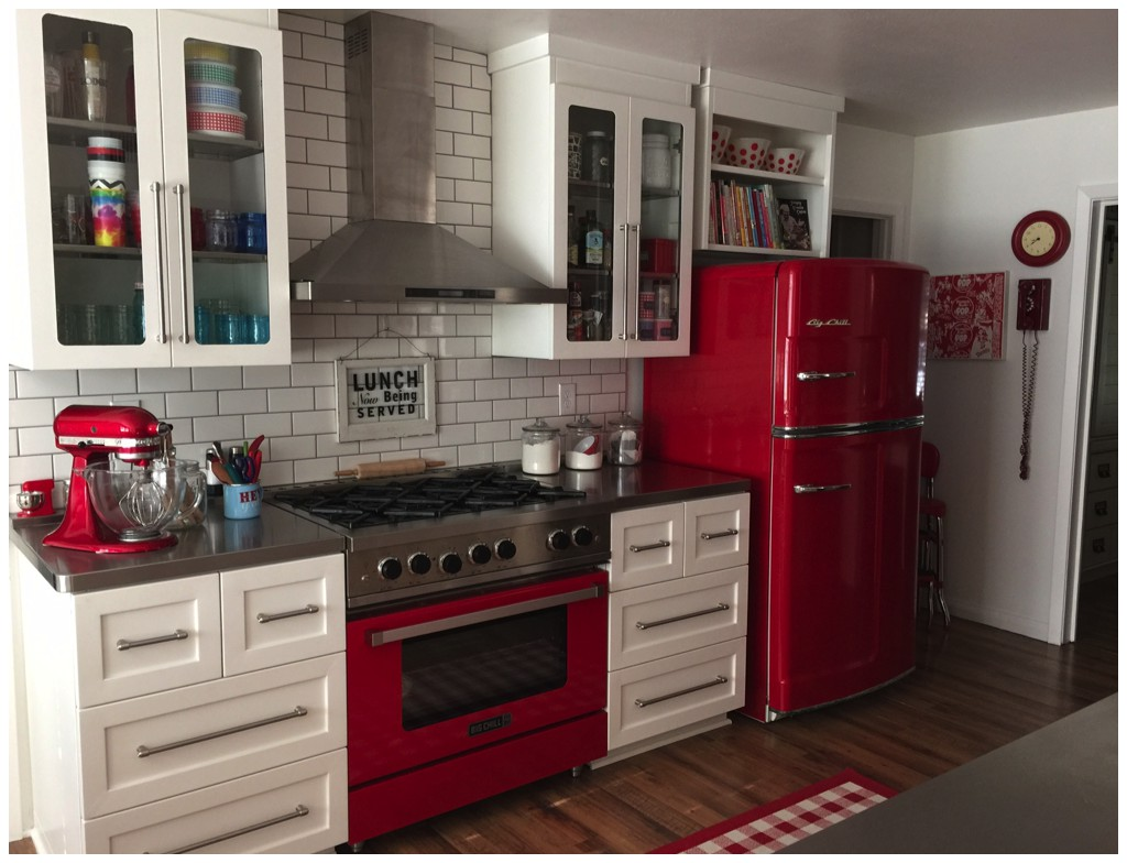 big chill appliances in red and pink