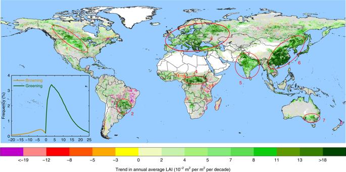 Arborizzazione cinese indiana - Fonte della NASA