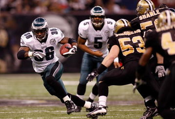 Expect a heavy dose of Brian Westbrook against the Saints on Sunday.  Kevin Kolb doesnt offer much promise if McNabb cant play.